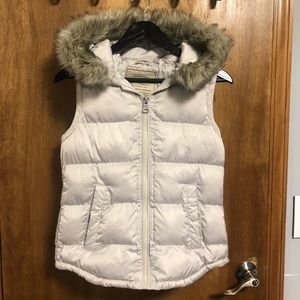 Zara hooded puffer vest